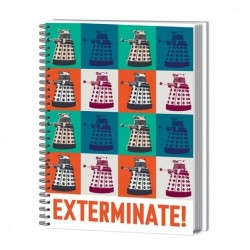 Doctor Who cahier à spirale A4 Exterminate