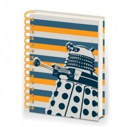 Doctor Who cahier à spirale A5 Dalek Stripe