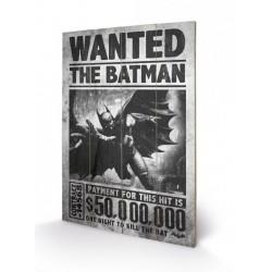 Batman Arkham Origins tableau bois Wanted 46 x 77 cm